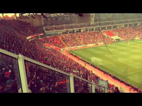 CSKA fans at new Spartak Stadium 17 May 2015