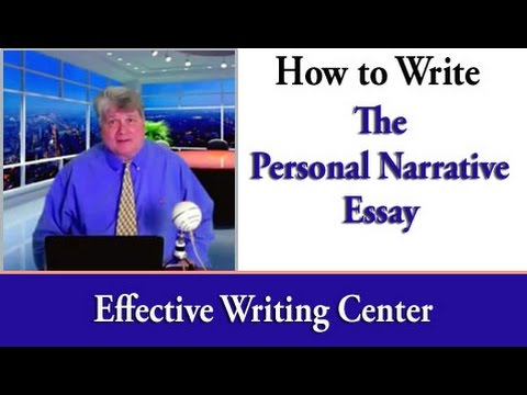 Видео How to write an autobiographical narrative essay