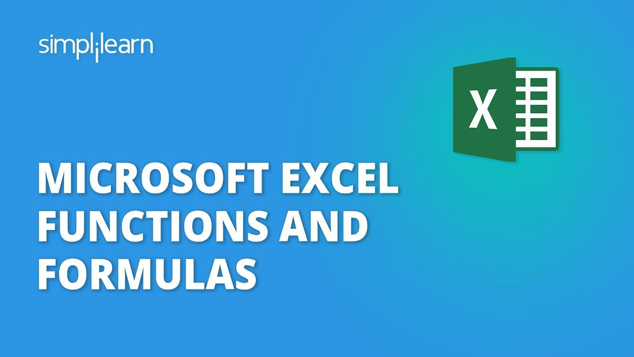 Excel Formulas | Excel Formulas And Functions | Excel Basics For Beginners