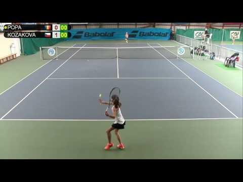 POPA (ROU) vs KOZAKOVA (CZE) - Open Super 12 Auray Tennis - Court 3