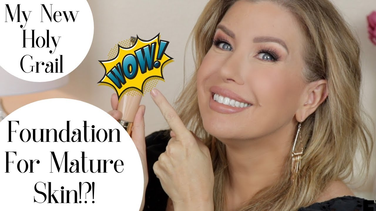 THE BEST NEW FOUNDATION FOR MATURE SKIN?!? | Risa Does Makeup