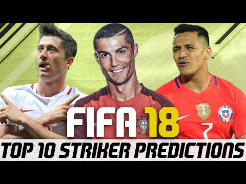 FIFA 18 Top 10 Best Strikers Player Ratings Predictions - Striker Ronaldo?!