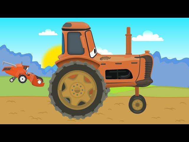 Tractor and Combine Harvester with McQueen | Prace na Farmie Traktor i Kombajn zbożowy Bajka