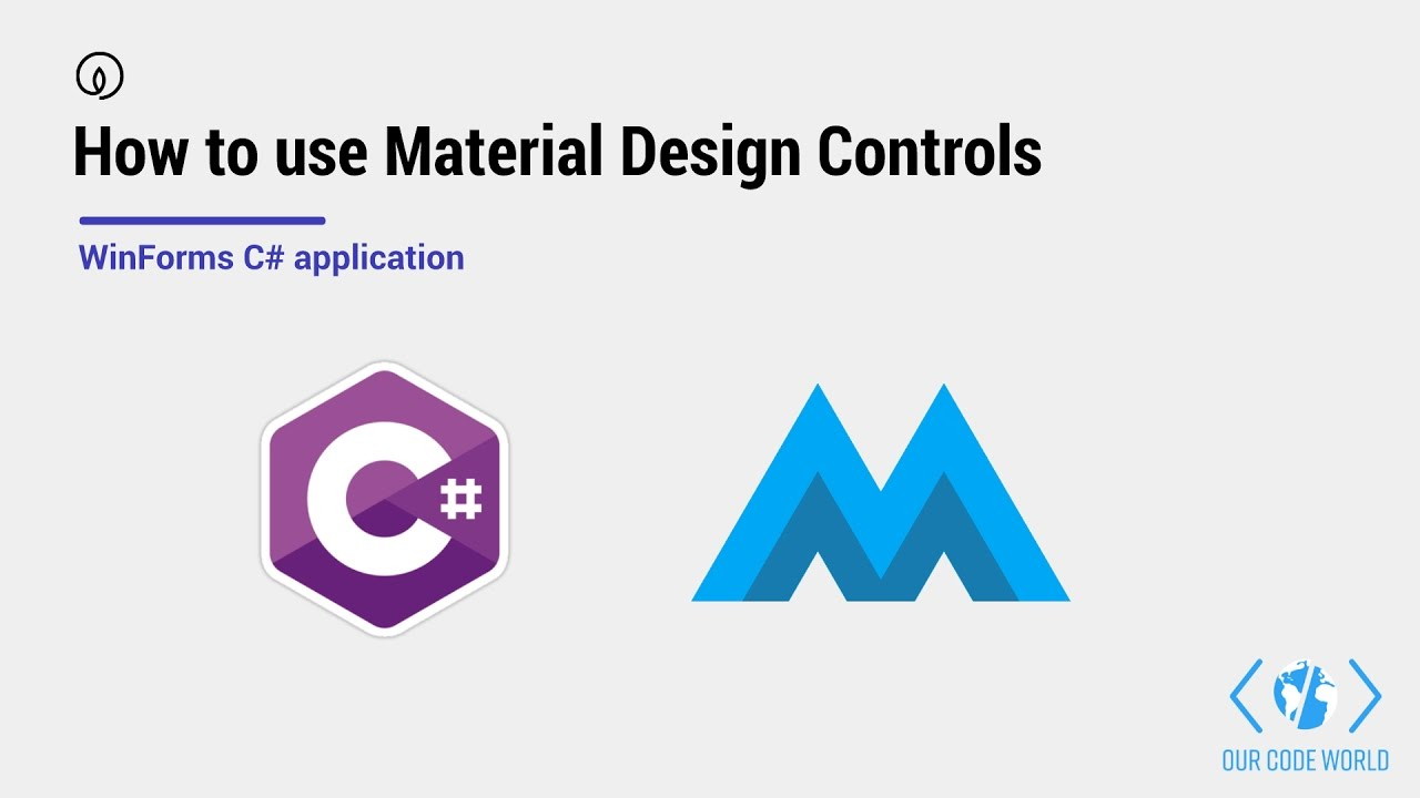 How to use Material Design Controls with C# in your WinForms