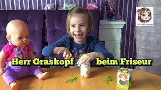 HANNAH SPIELT FRISEUR und Herr Graskopf-Ei muss leiden  💇🏻♂️ Wir sähen Gras in einem Ei 🥚