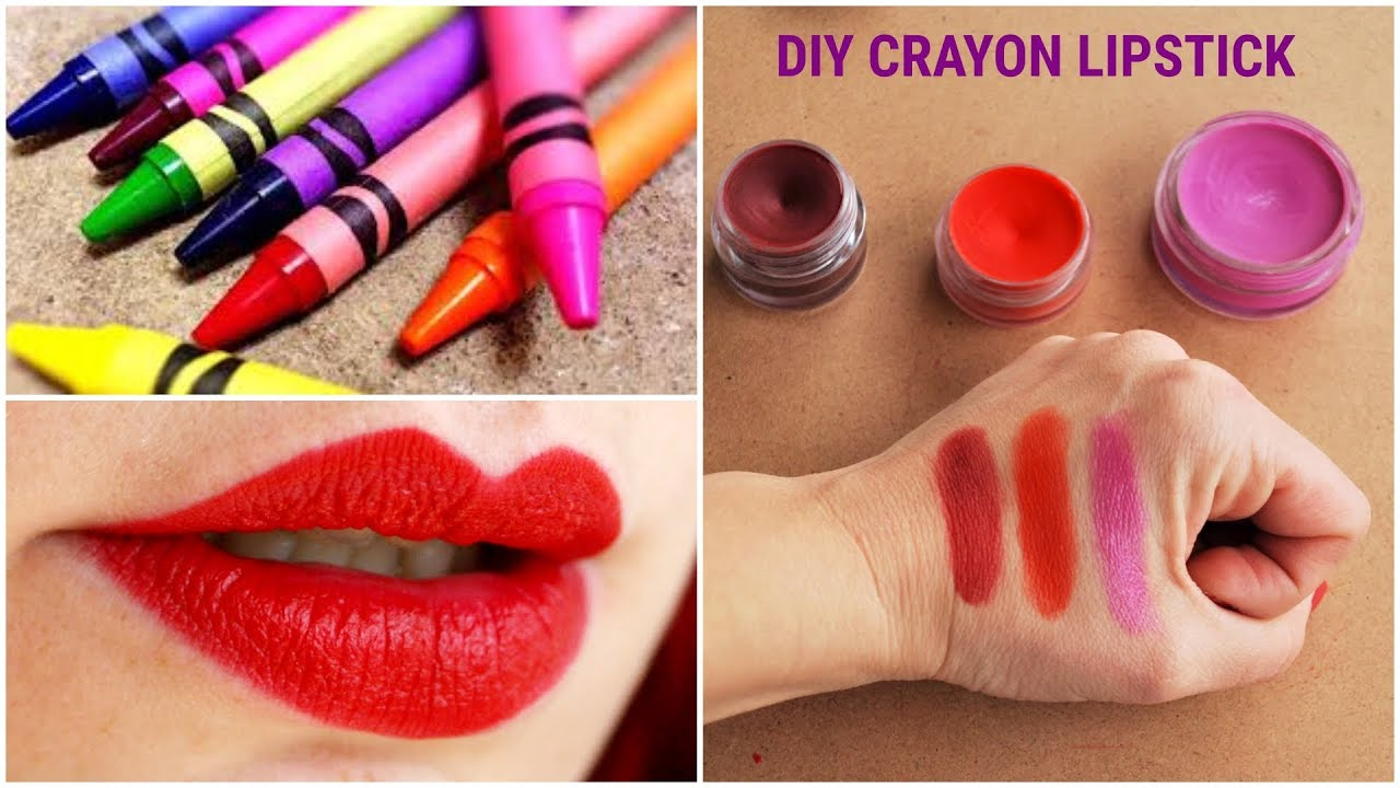 HOW TO MAKE CRAYON LIPSTICK AT HOME/DIY LIP CRAYON - YouTube