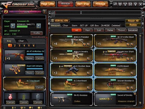 Selling Crossfire Account Rank 1 Star 9 VIP 6 Lotto Guns