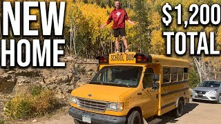 Tiny House School Bus Conversion Anyone Can Do For Under $1,200 Total