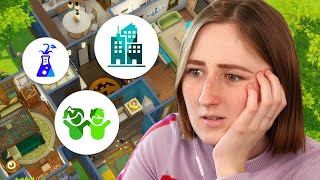 I built a house in The Sims 4 but each room is a different pack