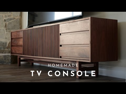 DIY #3 | 8ft Mid-Century Modern TV Console