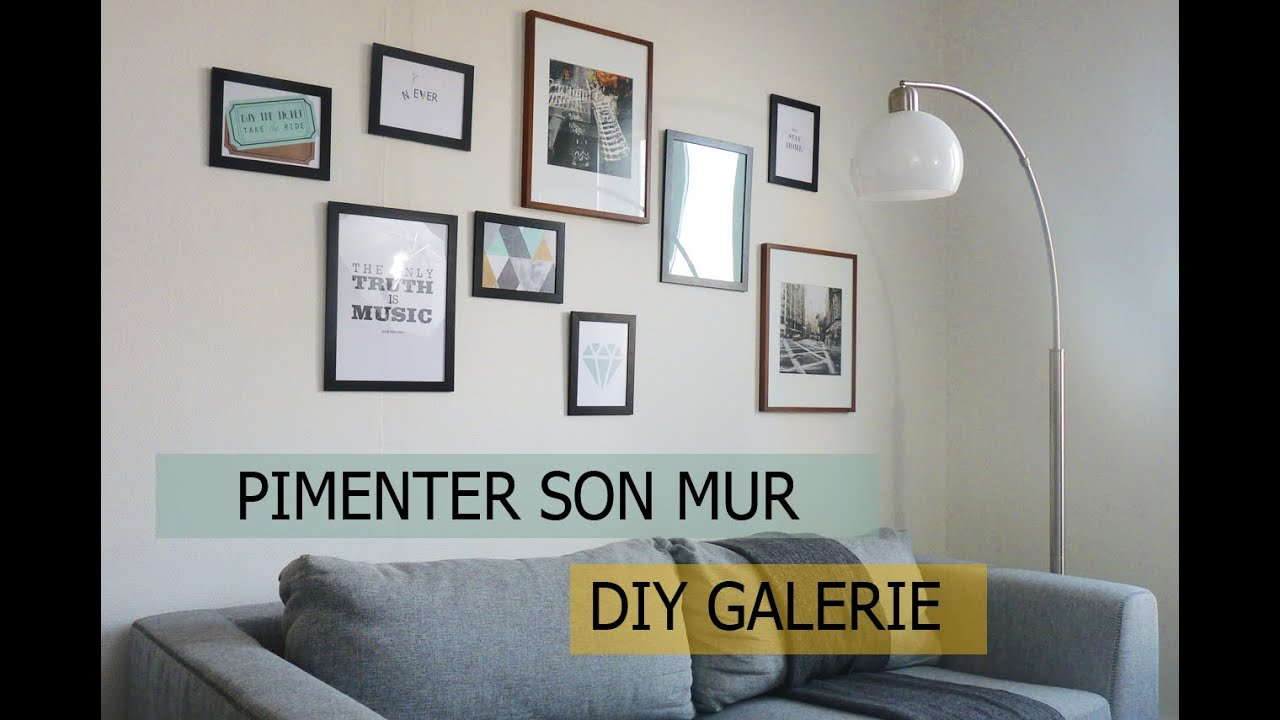 diy personnaliser ses murs avec des cadres photos youtube. Black Bedroom Furniture Sets. Home Design Ideas