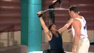 The Footy Show AFL (1997) - Sam Newman and Jason Dunstall lifting weights
