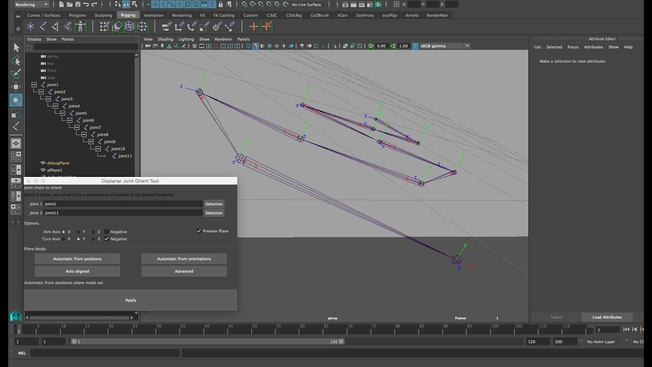 Aligning Off Axis Joints: Maya Script (Elbows etc)