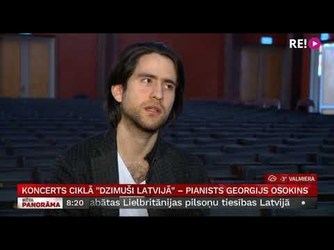 """Koncerts ciklā """"Dzimuši Latvijā""""  – pianists Georgijs Osokins"""