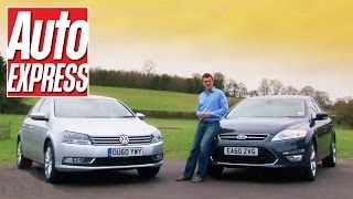 VW Passat vs Vauxhall Insignia vs Ford Mondeo review - Auto Express
