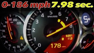 Nissan GT-R Alpha Omega: BRUTAL 0-186 mph = 7.98 sec. [0-100mph = 3...