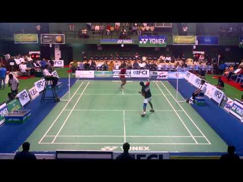 76th Senior National Badminton Championships 2012 - MS SF Sourabh Varma vs Prannoy H S Part 1