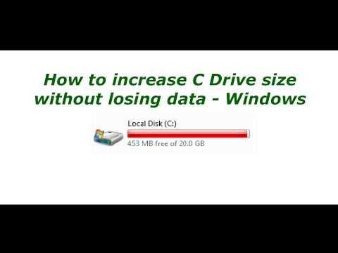 How To Extend The Size of C Drive Without Losing Data Windows 7 8 10