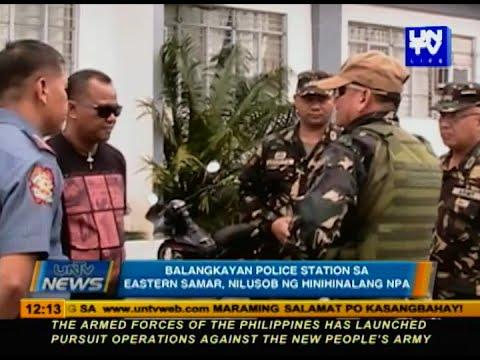 Balangkayan Police Station sa Eastern Samar, nilusob ng hinihinalang NPA