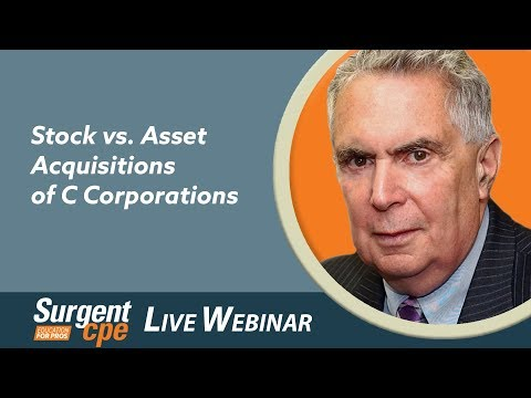 Stock vs. Asset Acquisitions of C Corporations (SVAS)