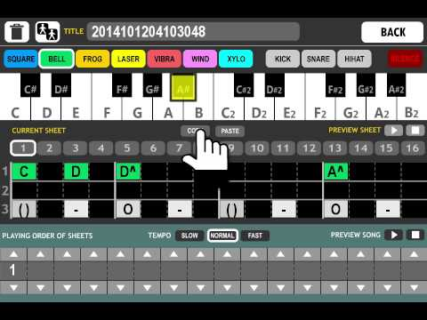 Android Game Creator - Song Maker Demo