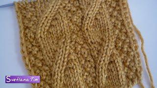 Узор ИМИТАЦИЯ КОСЫ. Вязание спицами (вязание на спицах) # 335