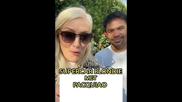 WATCH THIS! SUPERCAR BLONDIE VISITED MANNY PACQUIAO IN LOS ANGELES |