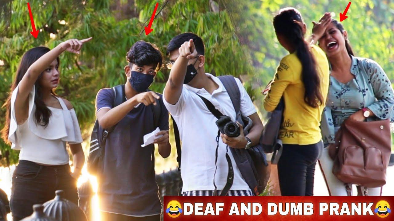 Deaf And Dumb Prank On Cute Girls😂 | Funny Reaction | VINE HUNT |