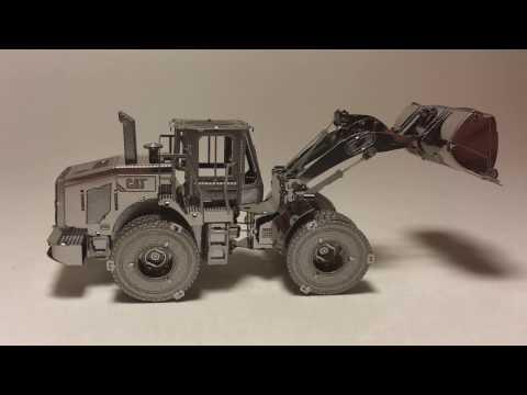 CAT Construction Wheel Loader Metal Earth Unbox and Build!