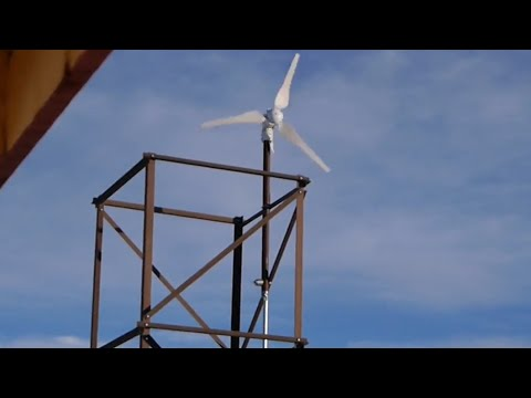 300W Wind turbine in up to 108km/h wind gust