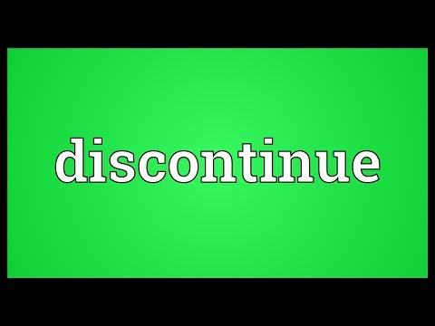 Header of discontinue