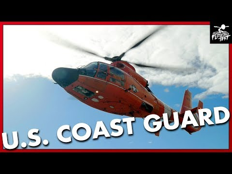 Coast Guard HELICOPTER FLY-BY and Rescue Walk-Through | FLITE TEST