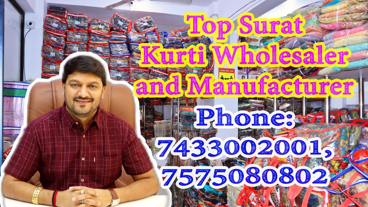 Download Best Kurti, Suits Wholesaler in Surat    Kurti Wholesale    Women Suits Wholesale,Phone : 7433002001