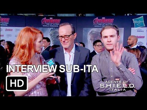 Intervista Clark Gregg e Iain De Caestecker World Premiere Avengers: Age of Ultron SUBITA HD