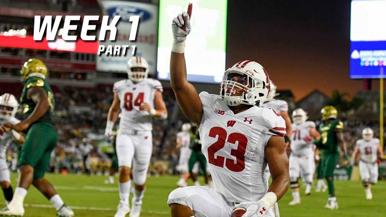 College Football Highlights 2019-20 - Week 1 (Part 1) ᴴᴰ