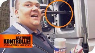 Schlagstock & Pfefferspray im LKW - Was will der Fahrer damit? | Achtung Kontrolle | kabel eins