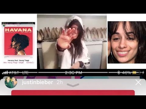 CAMILA CABELLO REACTION TO JUSTIN BIEBER LISTENING TO HAVANA