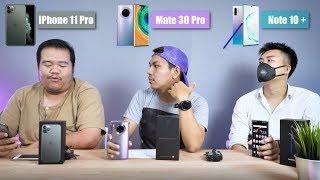 iPhone 11 Pro vs Mate 30 Pro vs Galaxy Note 10+ ทำให้เห็นกันชัดๆไปเลย