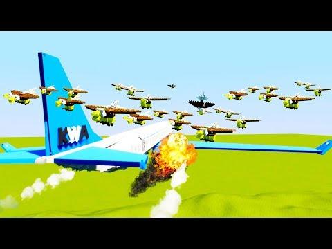 Flock Of Birds Causes Jumbo Jet Crash - Brick Rigs Best Workshop Creations Lego Game