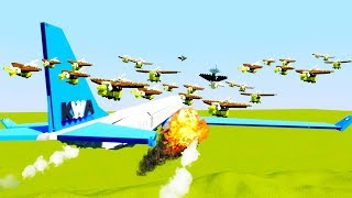 Flock of Birds Causes Jumbo Jet Crash - Brick Rigs Best Workshop Creations Lego Game