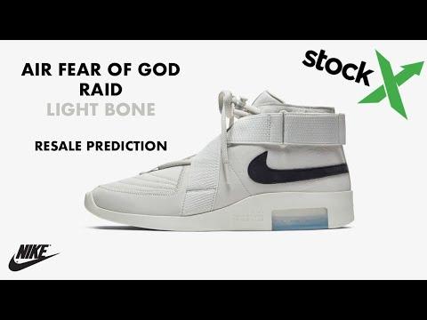 nike air fear of god raid resell