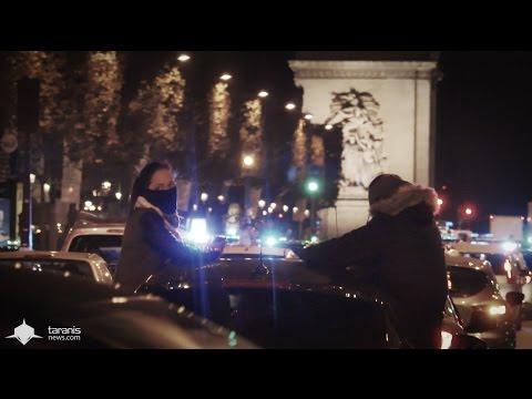 PARIS 18/10/2016 • LA POLICE FAIT UNE MANIFESTATION SAUVAGE DE NUIT