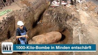 1000-Kilo-Bombe in Minden entschärft
