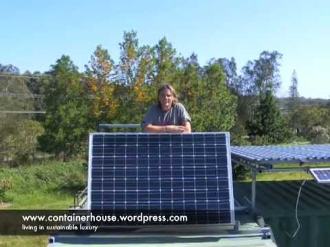 Shipping Container House Solar Panel Install Youtube