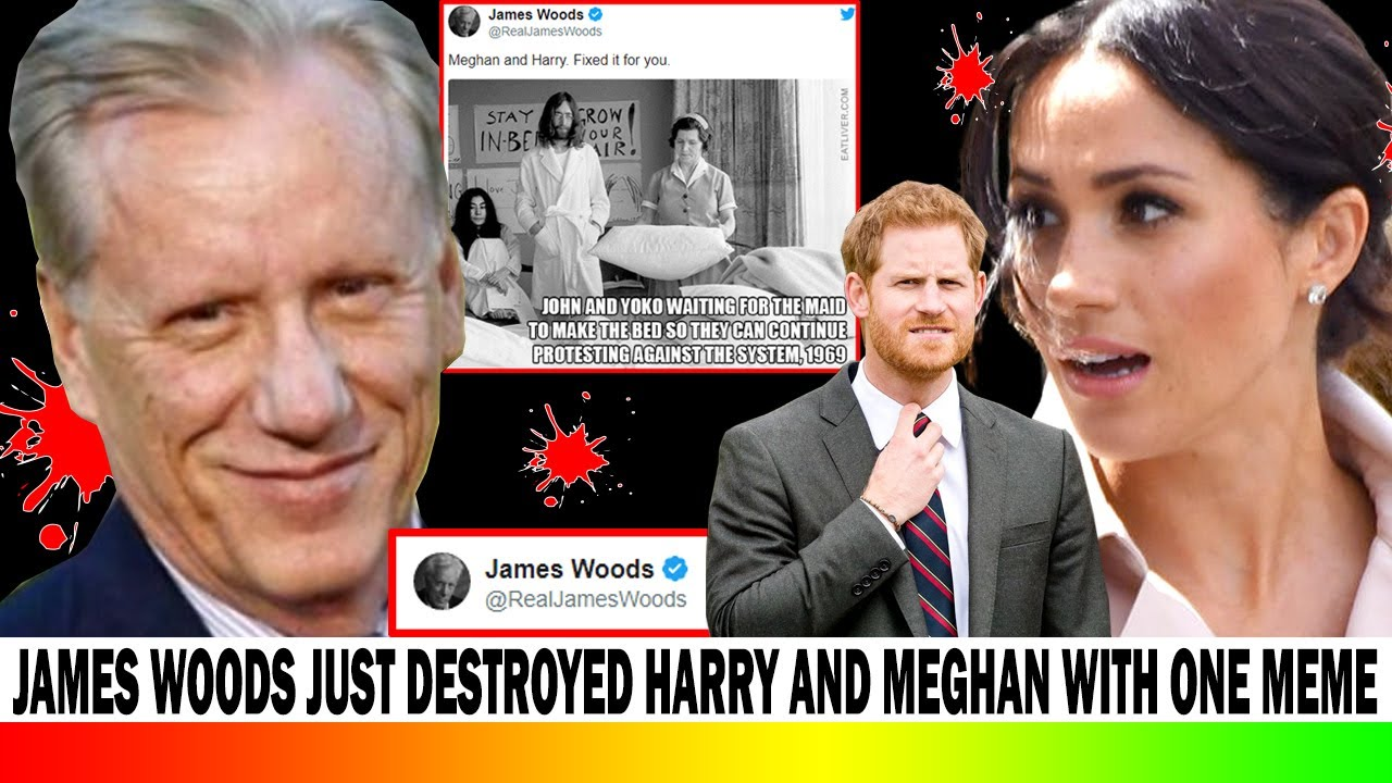 james woods just destroyed prince harry and meghan markle with one meme youtube james woods just destroyed prince harry and meghan markle with one meme
