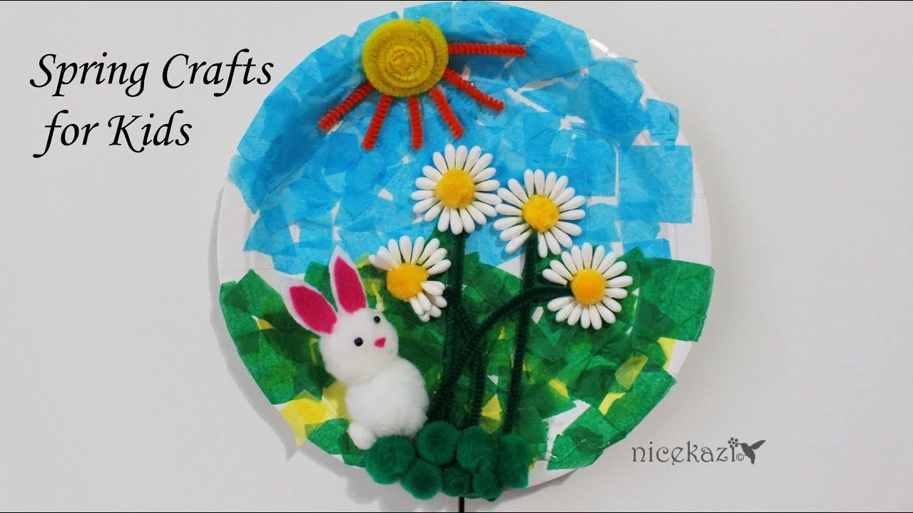 How To Make Spring Crafts For Kids Cute Bunny Kids Craft Recycled