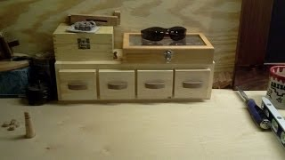 Shop/shed Tip #007 - Storage - 4-drawer Bench Top Storage Unit