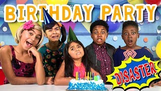 Types of Kids Birthday Party Disaster - Issac Ryan Brown Disney Channel Raven's Home // GEM Sisters
