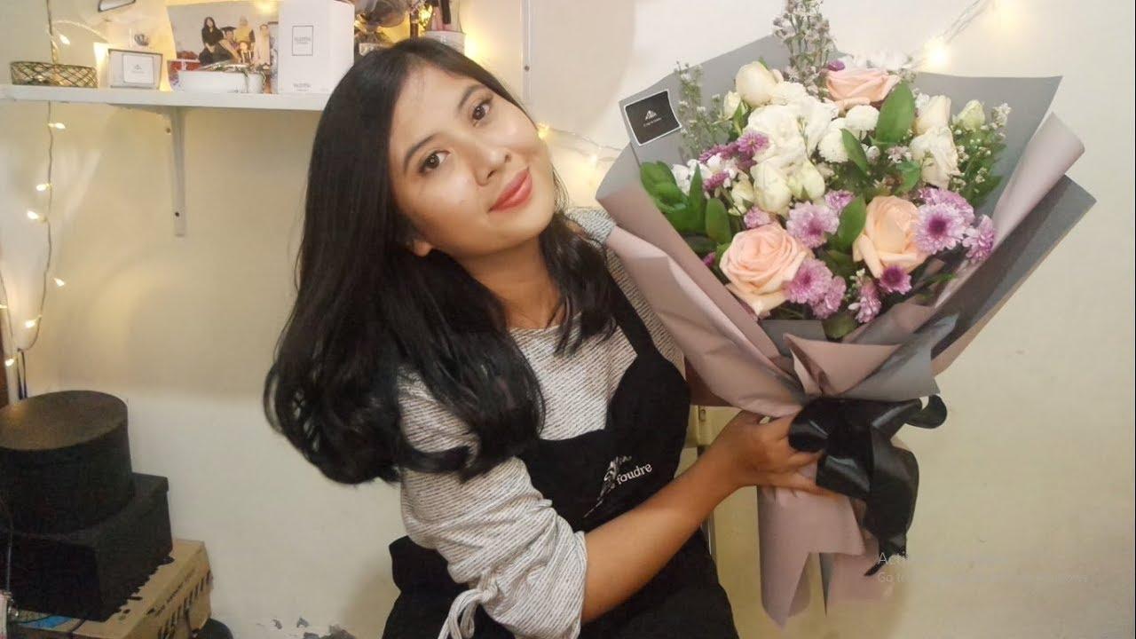 Cara Merangkai Bunga Buket How To Make A Bouquet Flowers Youtube