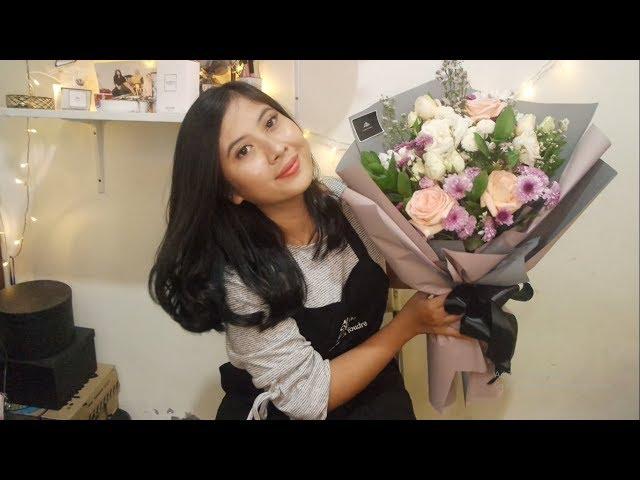 Cara Merangkai Bunga Buket / How to make a bouquet flowers?